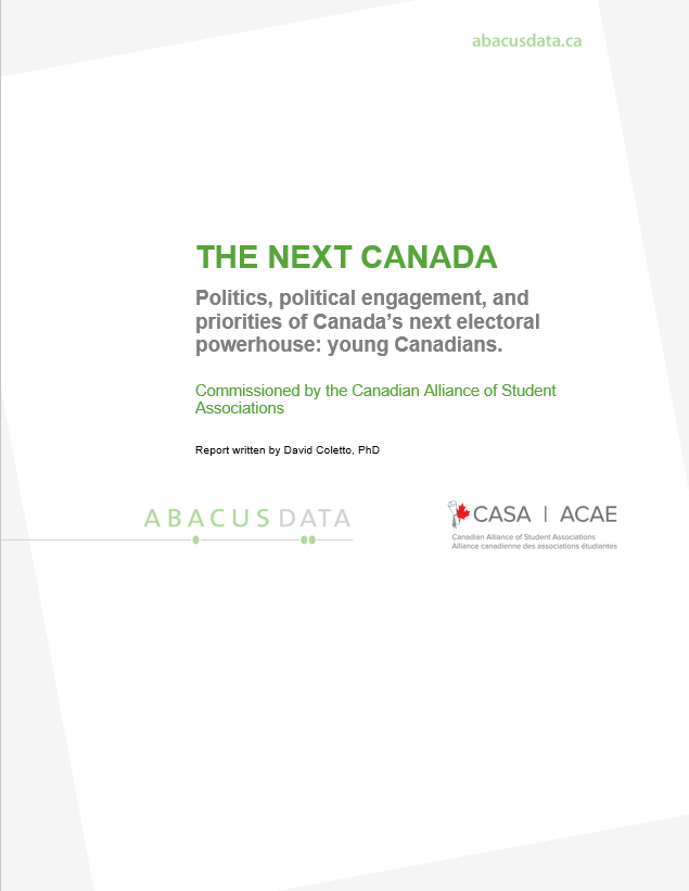 The Next Canada Young Canadians And Politics Abacus Data