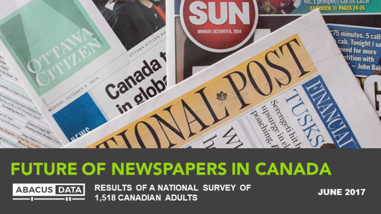 Newspapers in Peril?…Canadians Unworried