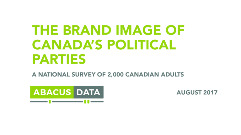Parties as Brands: How Canadians See the Conservatives, Liberals and NDP