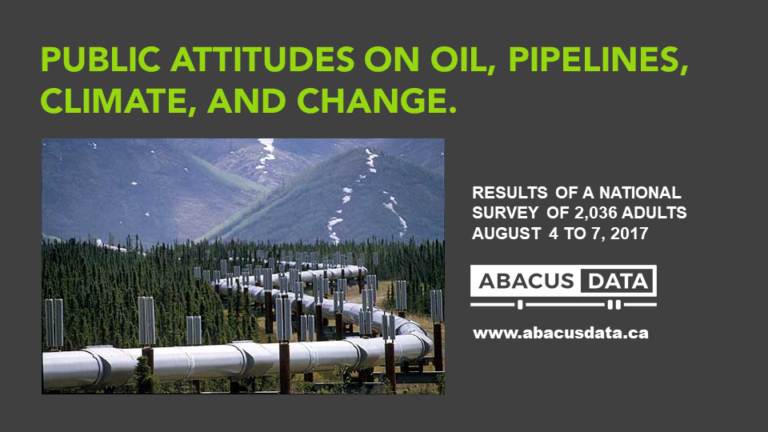 Public Attitudes on Oil, Pipelines, Climate, and Change