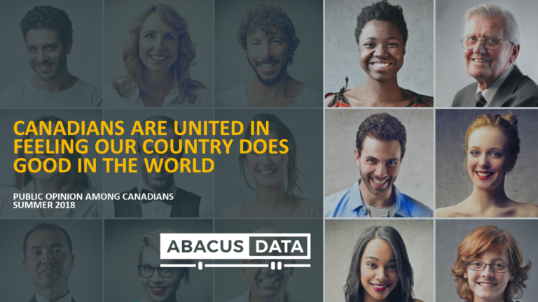 Canadians are united in believing our country brings good to the world