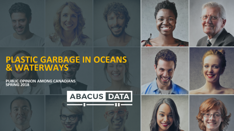 New Poll: Canadians say plastics in oceans a problem and more action needed.