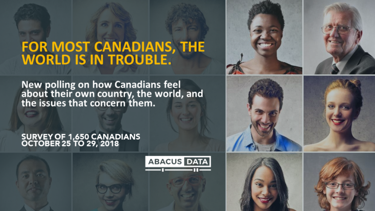 For most Canadians, the world is in trouble.