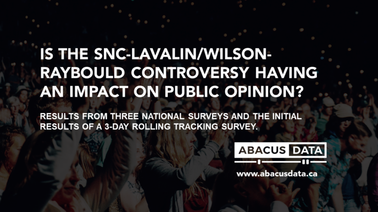 Has the SNC-Lavalin/Wilson-Raybould Controversy Impacted Public Opinion?