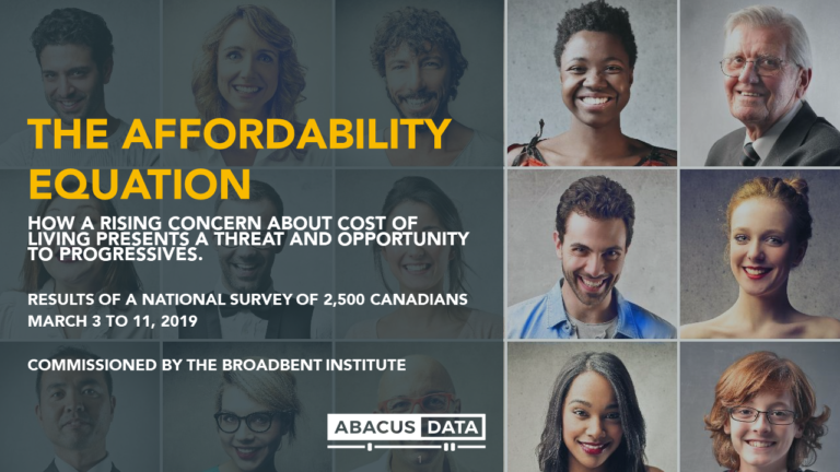Memo: What our polling on affordability anxiety for the Broadbent Institute means for progressives in Canada