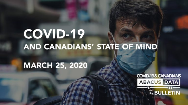 COVID-19 and Canadians' State of Mind: Worried, lonely, and expecting disruption for at least 2 to 3 months