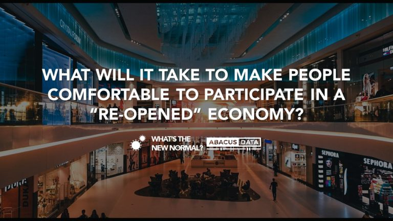 "When the economy ""re-opens"", what will it take for people to come back in?"