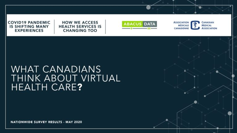 What do Canadians think about virtual healthcare?