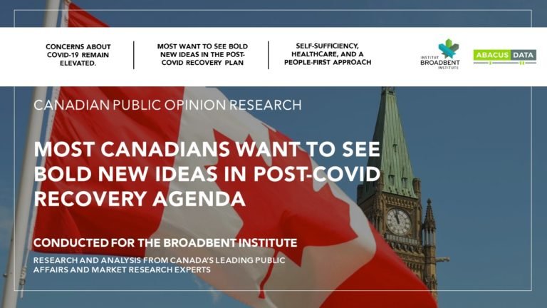Canadians expect bold action to deal with the economic and social impact of the pandemic