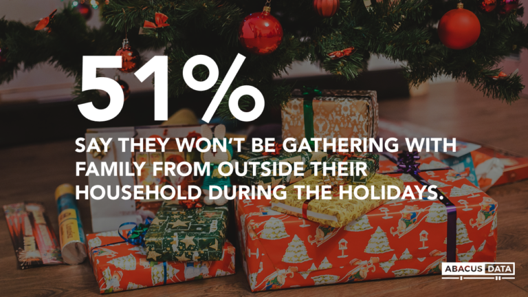 Abacus Data Bulletin: Half of Canadians say they won't gather with family outside their household for the holidays